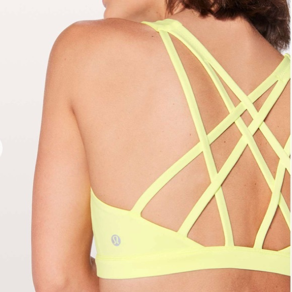 lululemon athletica Other - NEW • Lululemon • Free To Be Serene Yellow Bra 12